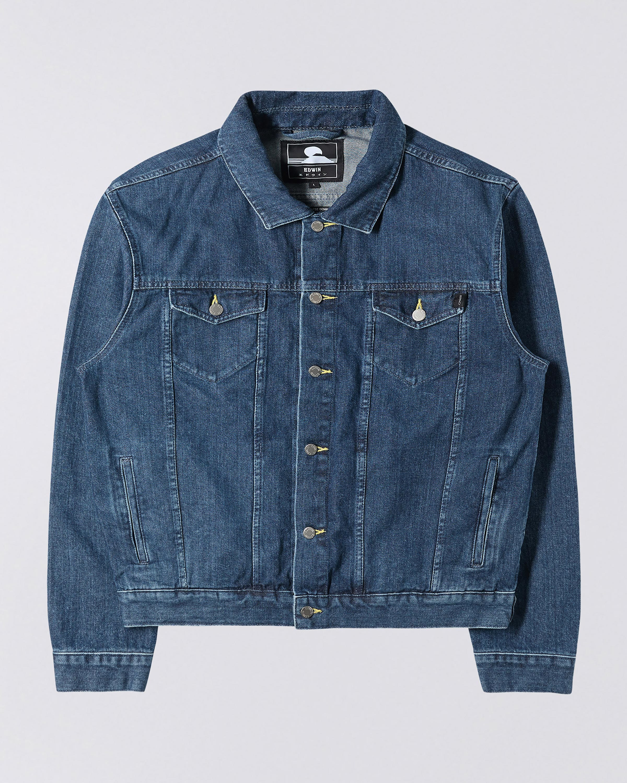 Uomo Giacca di Jeans Vintage Classica Giubbotto Denim Giacca Panciotto Sottile
