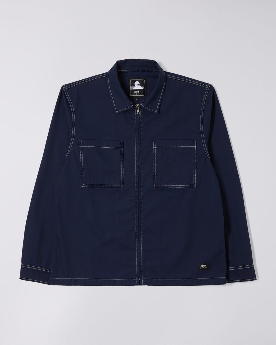 Zip Work Shirt LS