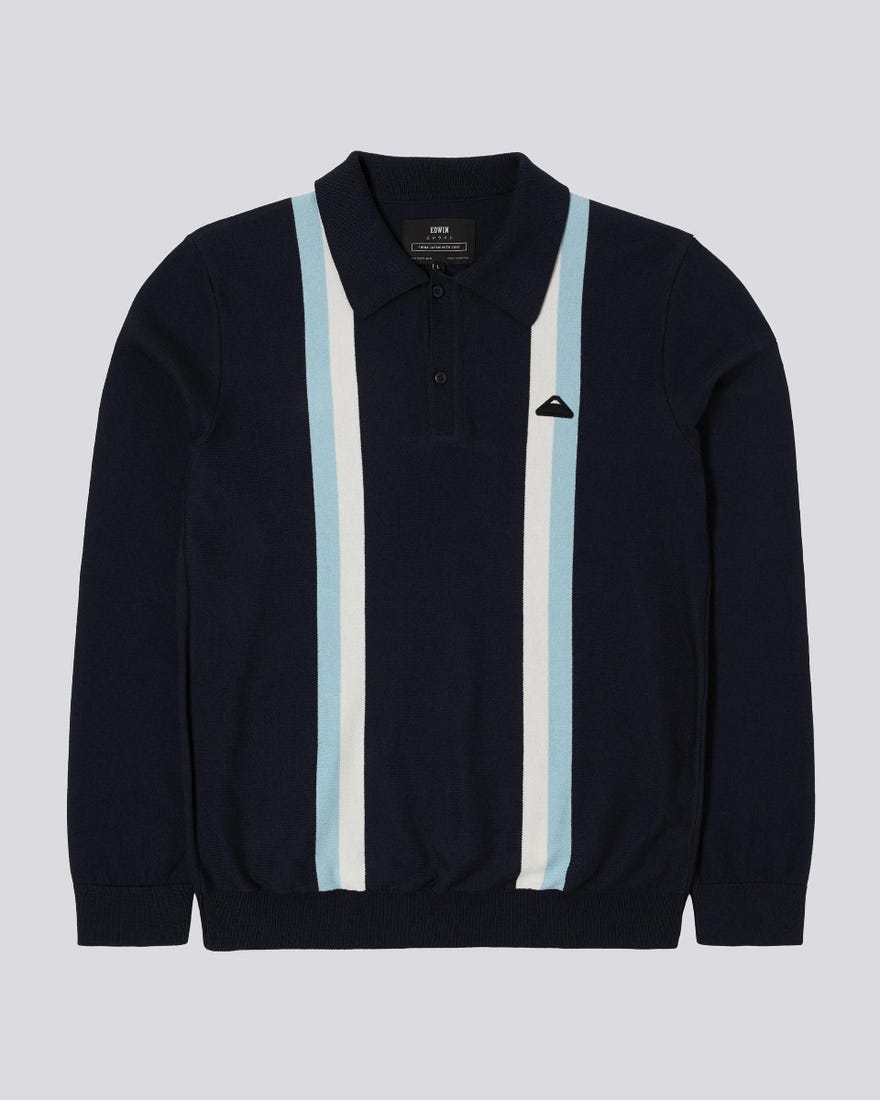 Stripes Polo Sweater
