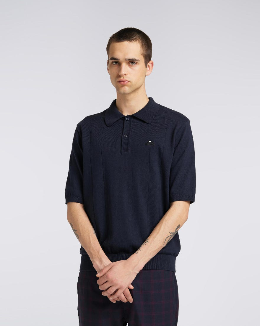 Pointelle Polo Sweater SS